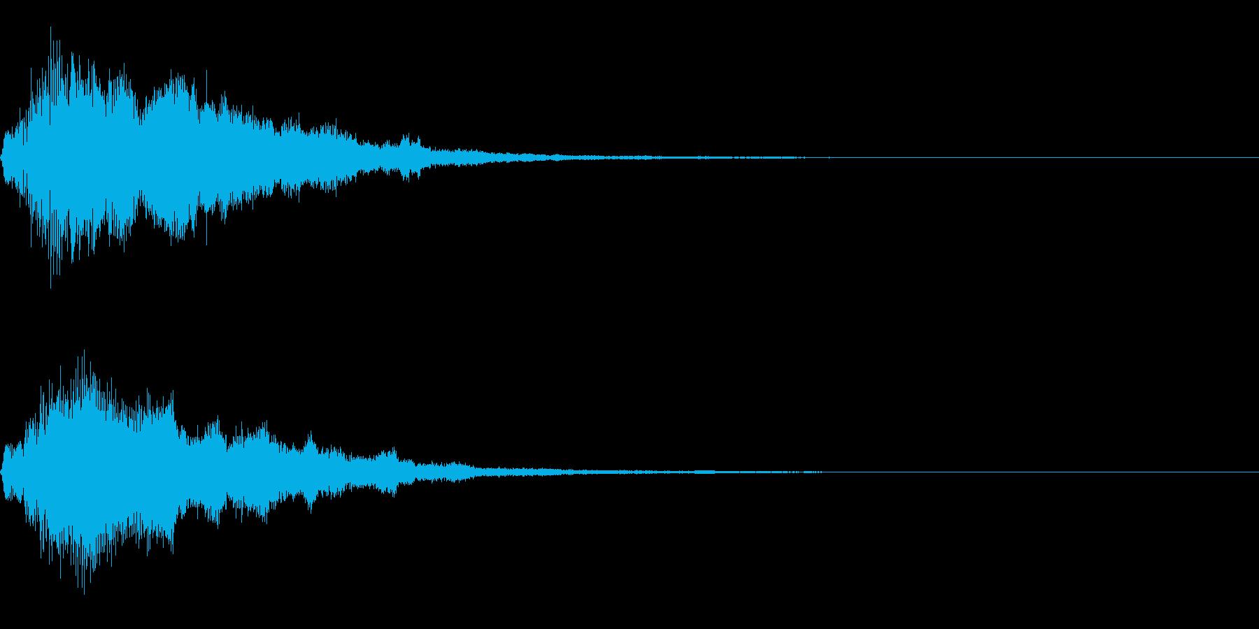 フワッキラキラとしたサウンドロゴの再生済みの波形