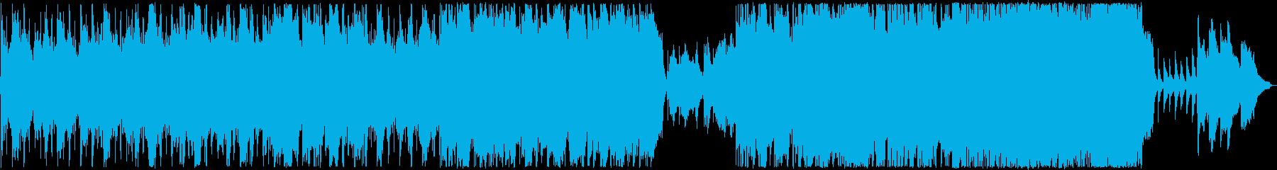 ピンクフロイド風の物悲しいBGM2の再生済みの波形