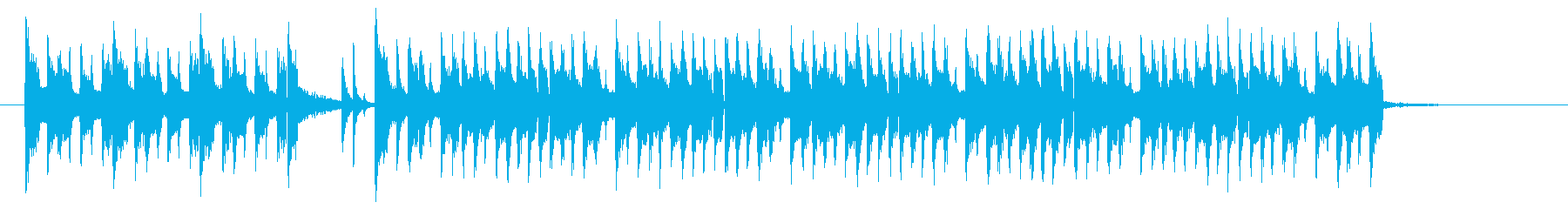 かっこいいギターサウンドのロックの再生済みの波形
