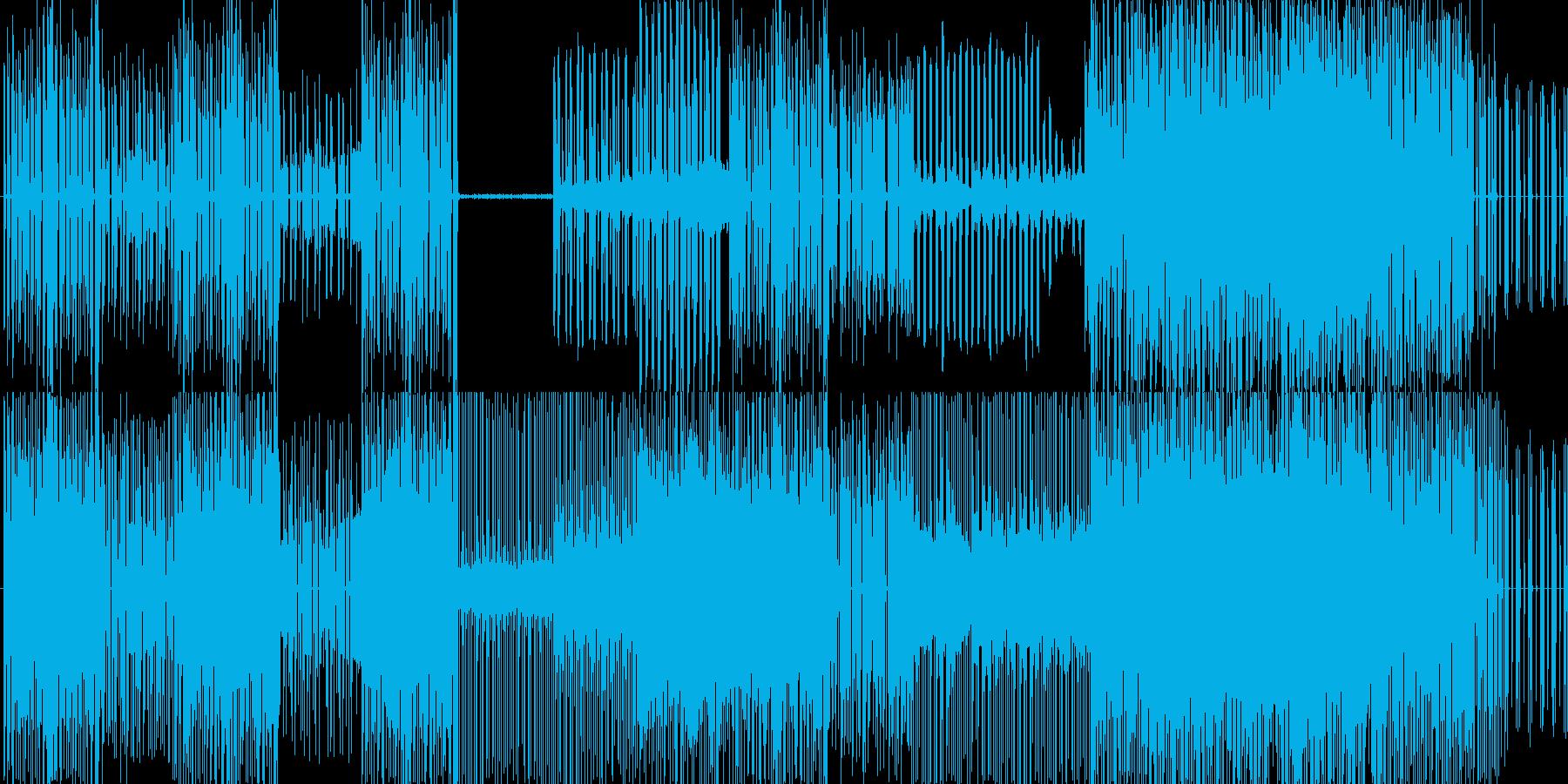 音楽    一度も作った事がな…の再生済みの波形