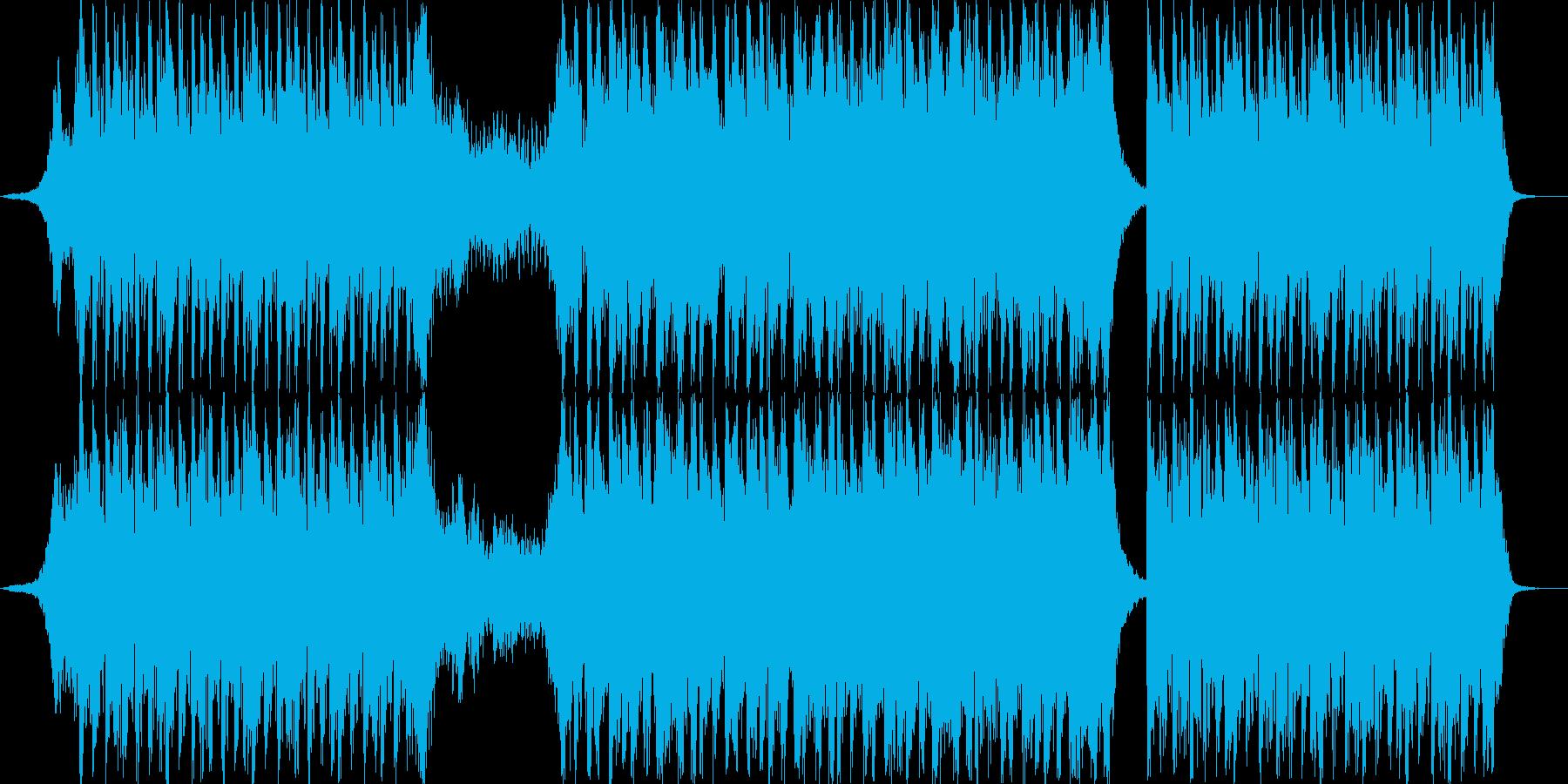 怪物に追われ逃げている様なスリリングな曲の再生済みの波形