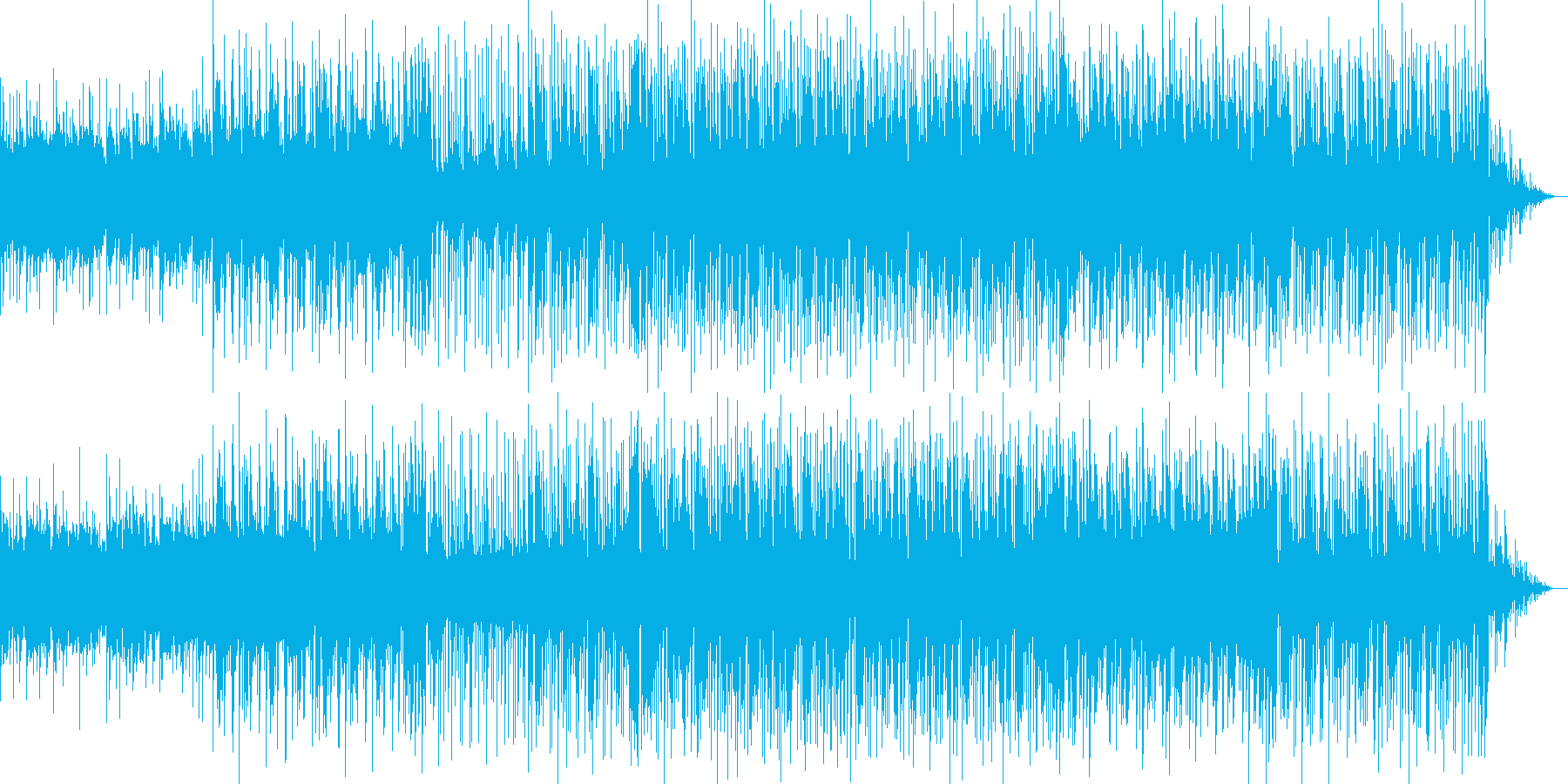 シンセのアルペジオが気持ちいいBGMの再生済みの波形