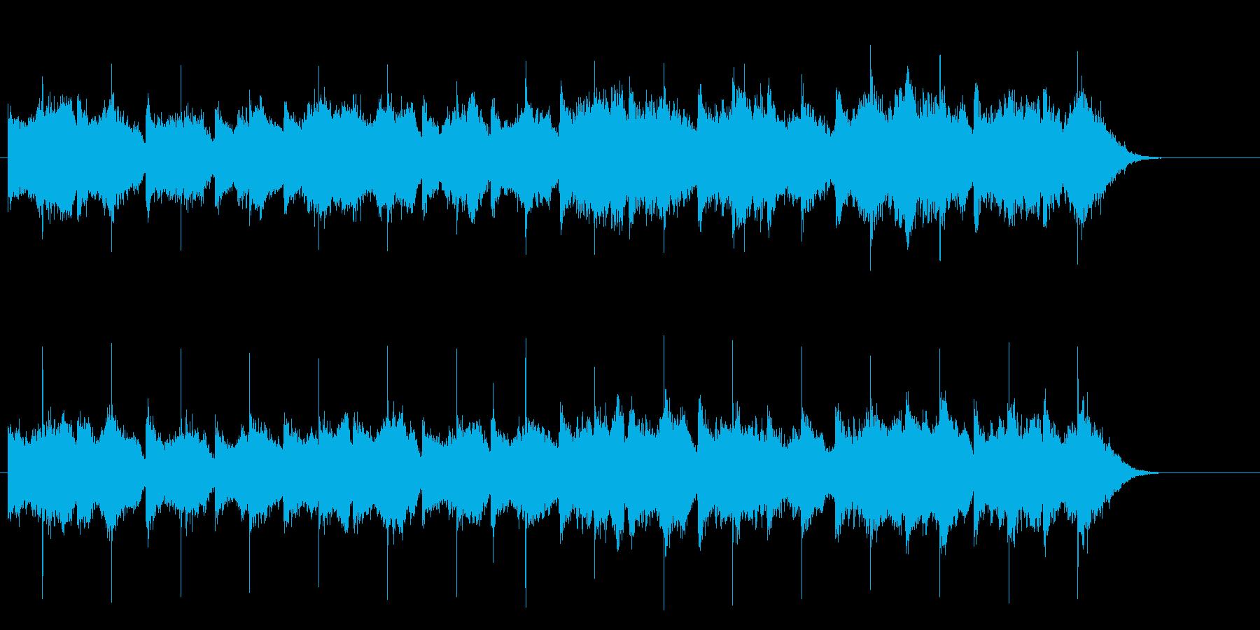 ドラマのワンシーンのシリアス・サウンドの再生済みの波形