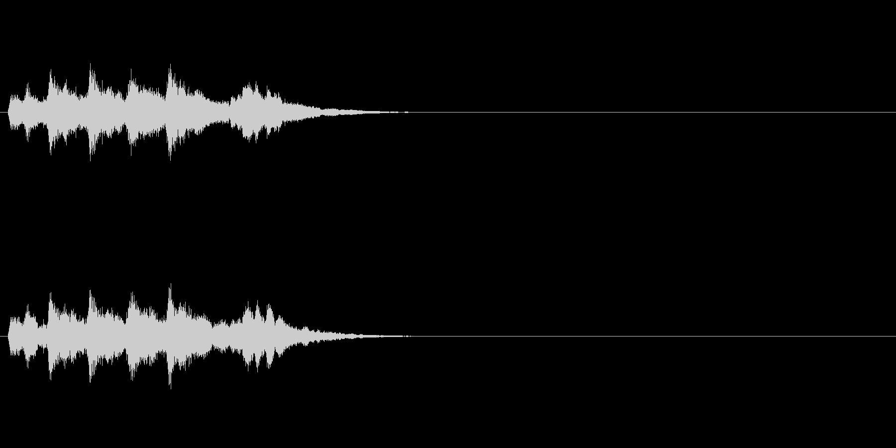 場面転換SEジングルの未再生の波形