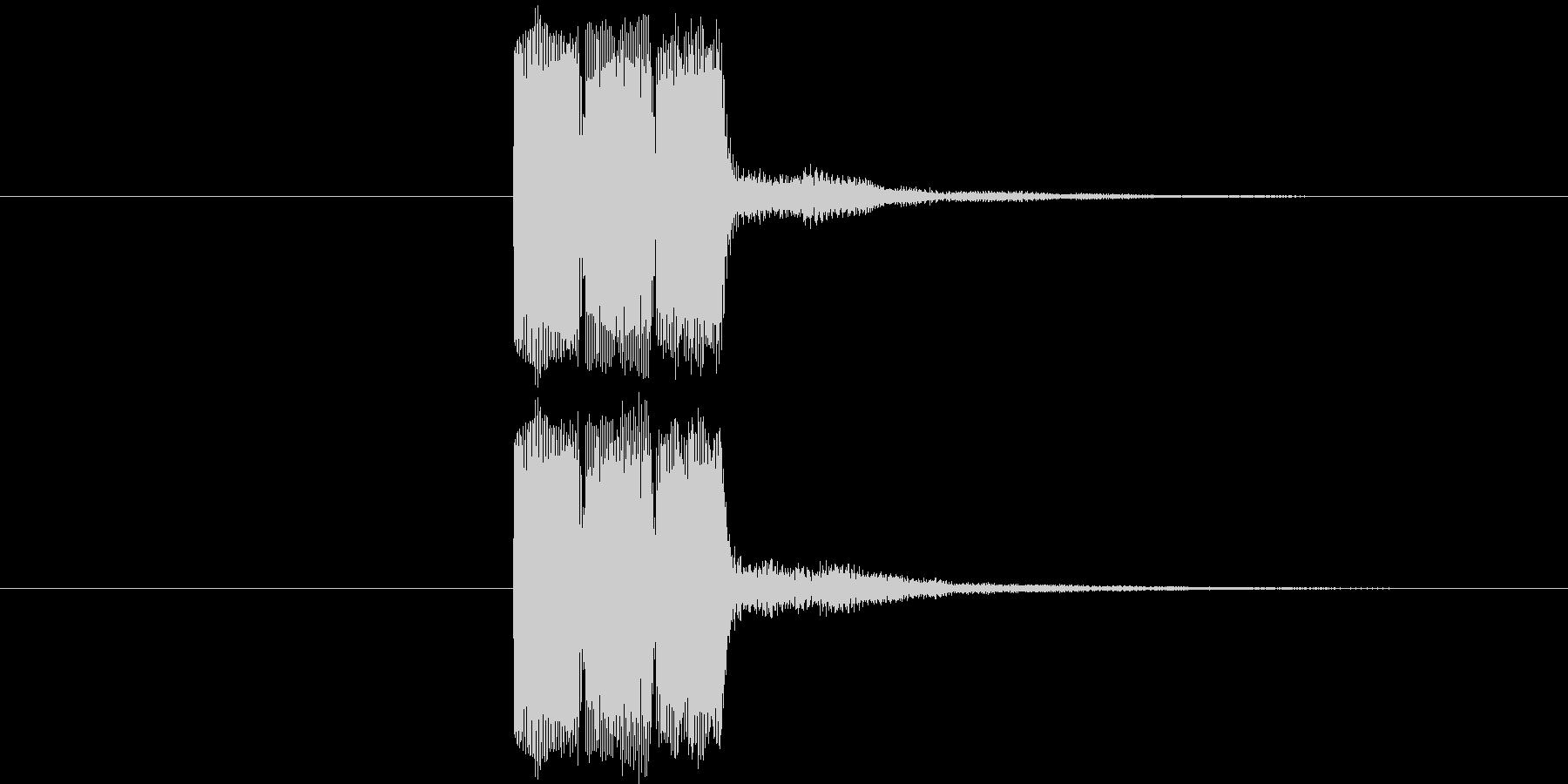 ゲーム等の操作決定音に使える音01の未再生の波形
