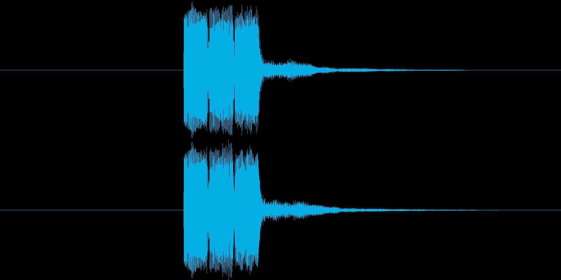 ゲーム等の操作決定音に使える音01の再生済みの波形