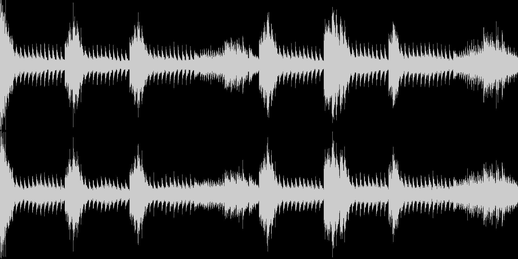 金属系緊迫シーン リズム【ループ】の未再生の波形