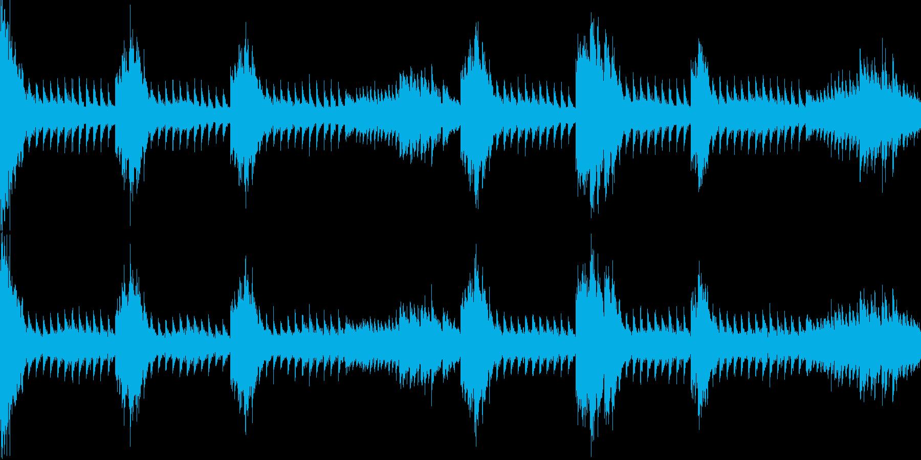 金属系緊迫シーン リズム【ループ】の再生済みの波形