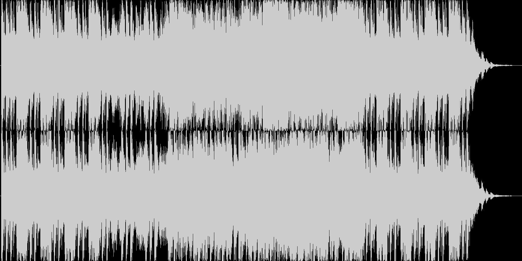焦燥感にかられるパワフルオーケストラ曲の未再生の波形