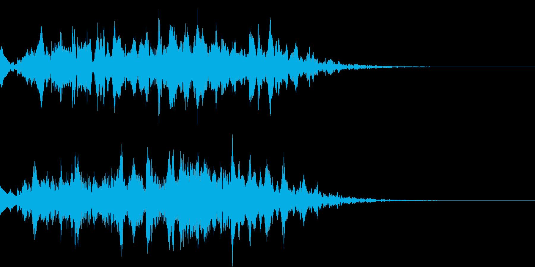 サウンドロゴ・起動時の効果音(不思議)の再生済みの波形