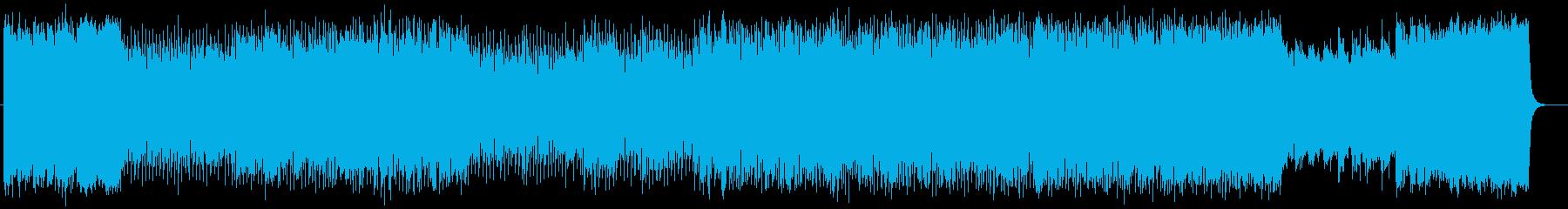 ポップな爽快テクノチューンの再生済みの波形
