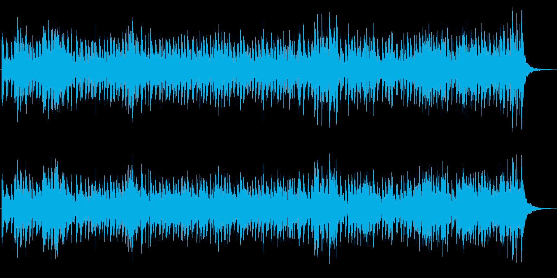 ミニマルな雰囲気のアンビエントジングルの再生済みの波形