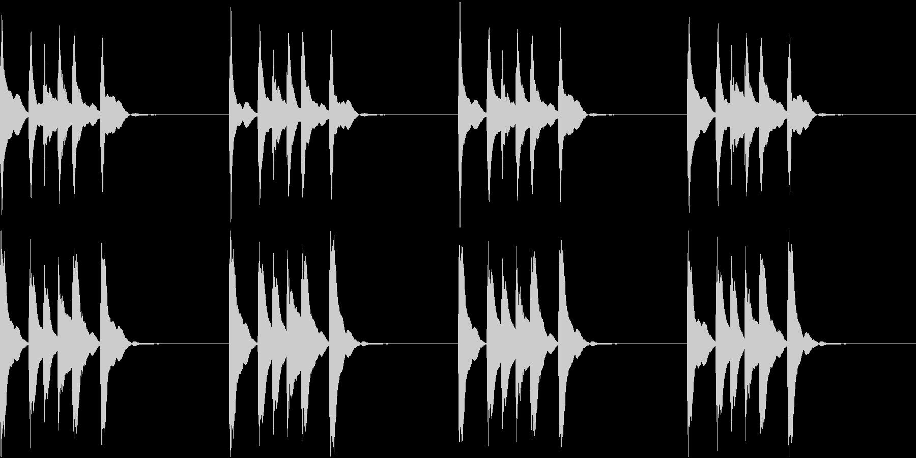 シンプル ベル 着信音 チャイム C12の未再生の波形