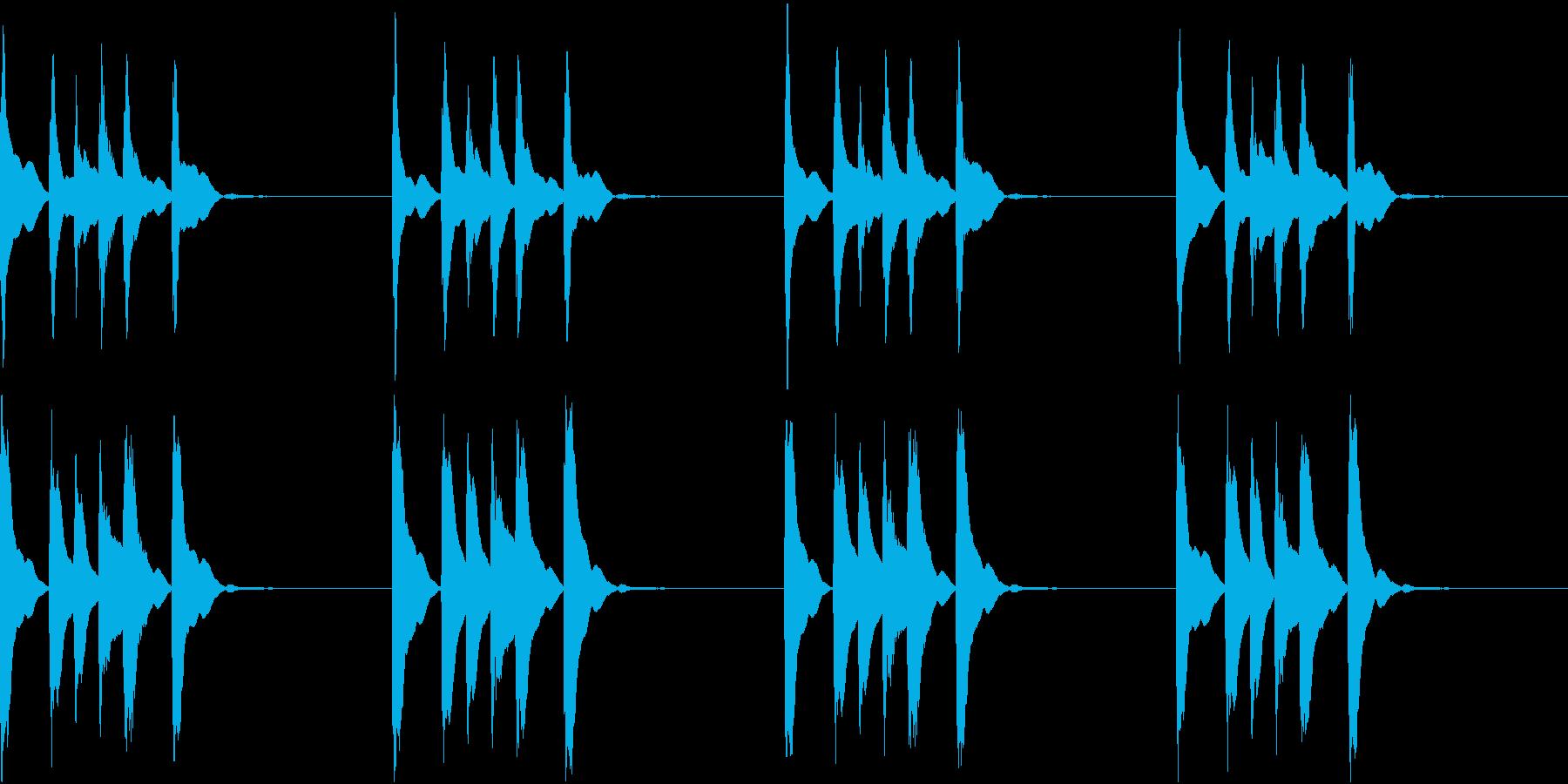 シンプル ベル 着信音 チャイム C12の再生済みの波形