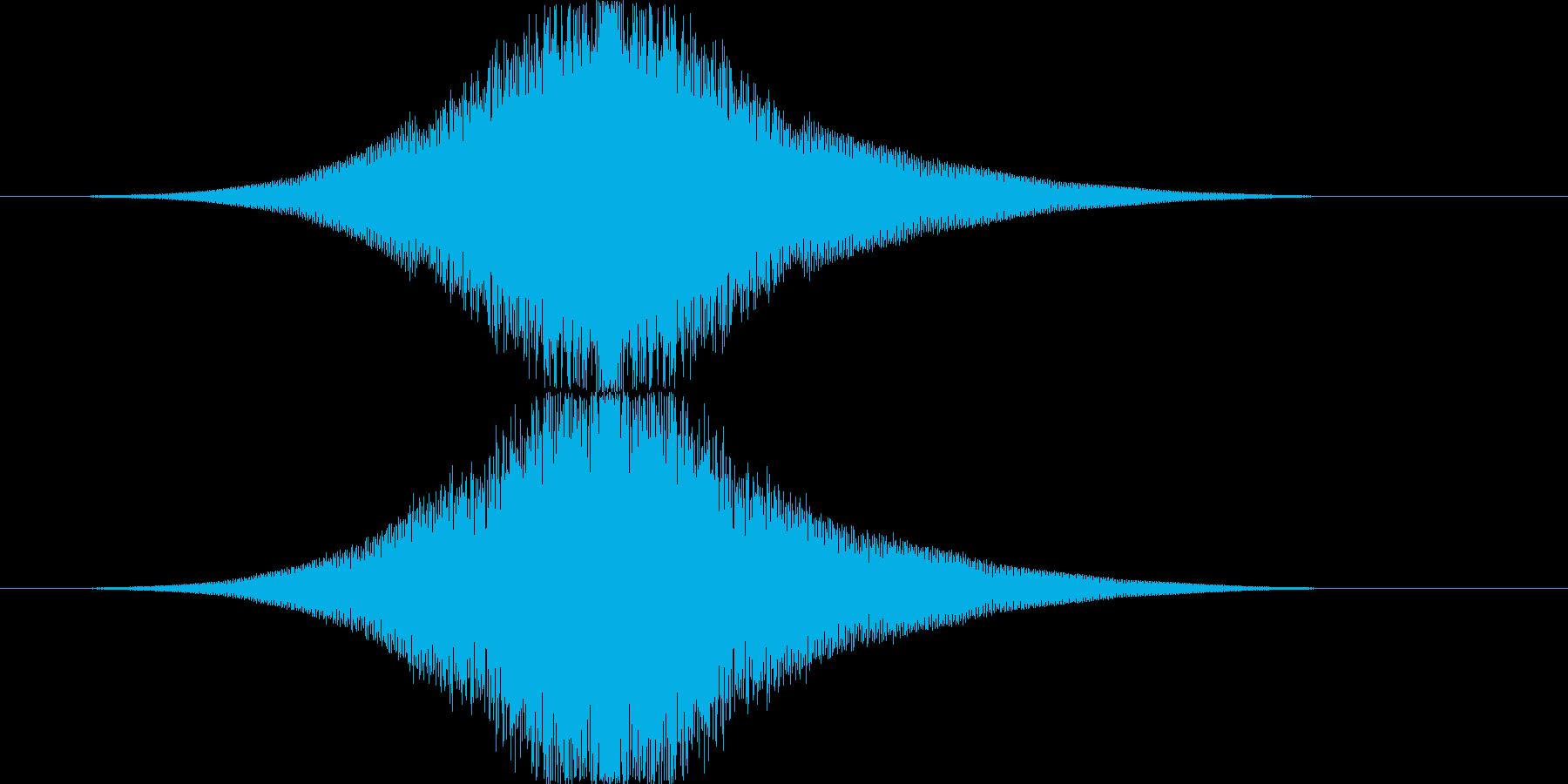 フェード/インパクト/銃声/大きくなるの再生済みの波形
