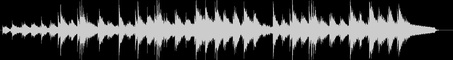 力強いピアノサウンドの未再生の波形