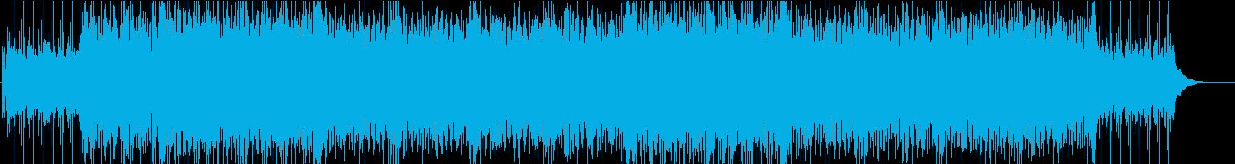 爽やかな4つ打ちのアコースティックの再生済みの波形