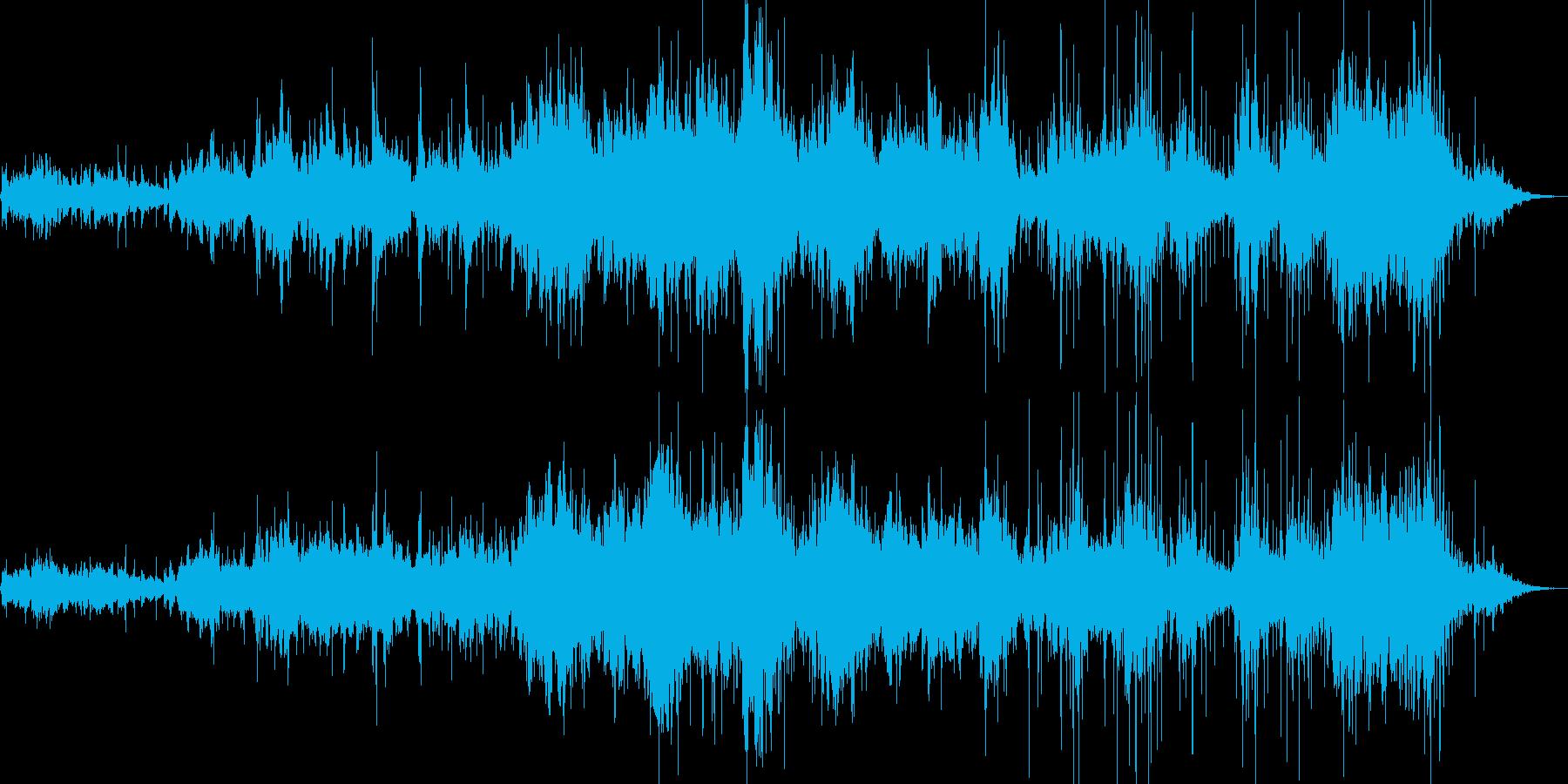 幻想的な歌声と優しいピアノの旋律の再生済みの波形