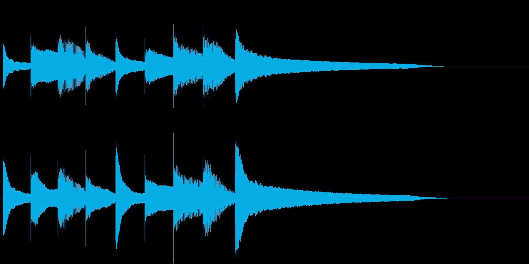 宿屋への宿泊の時に流れる音のイメージの再生済みの波形