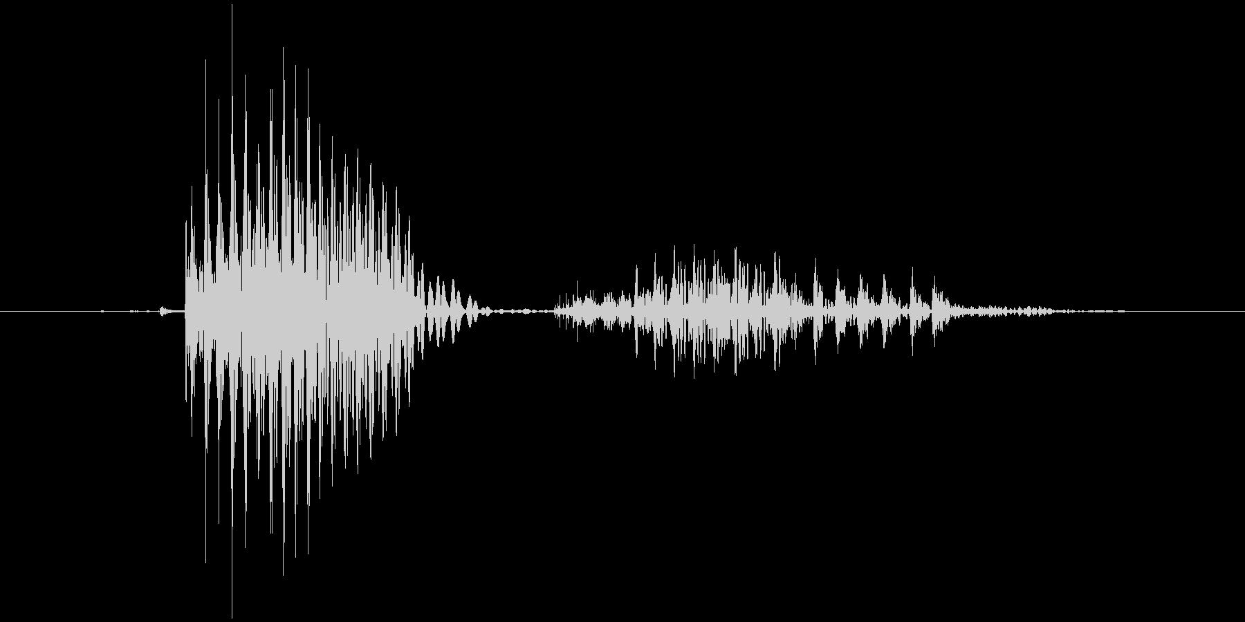 「April」英語発音の未再生の波形
