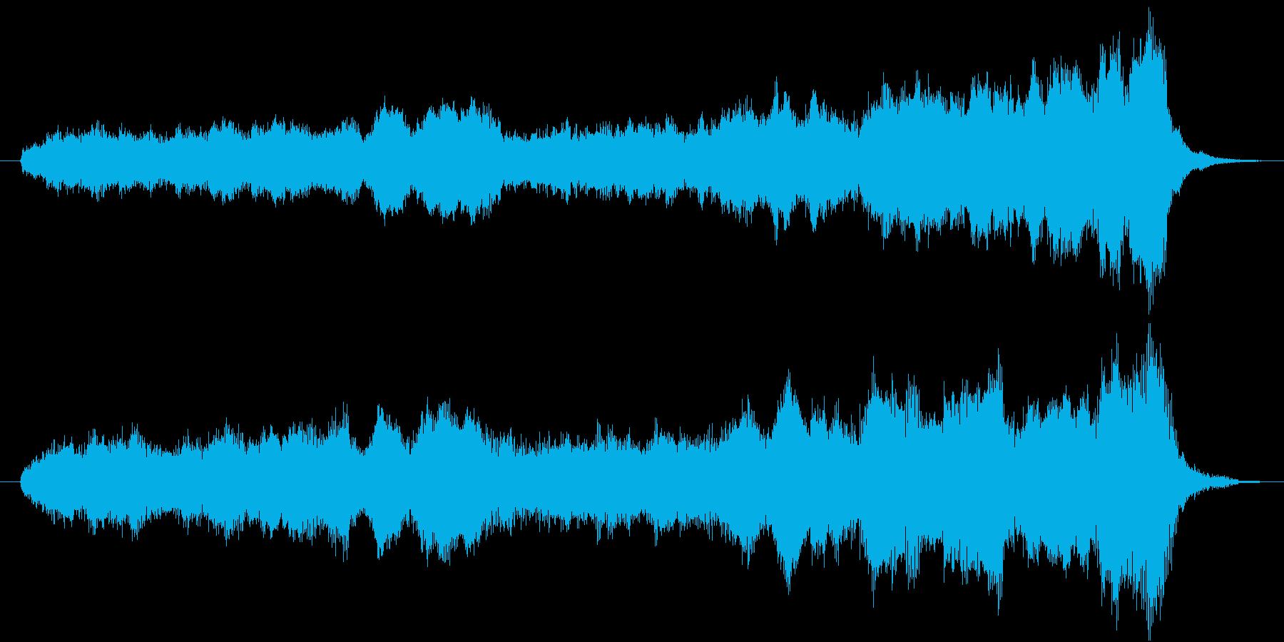 雄大に始まるオーケストラの再生済みの波形