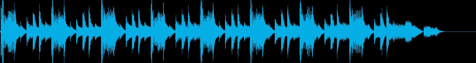 Drum&Bass風のジングルの再生済みの波形