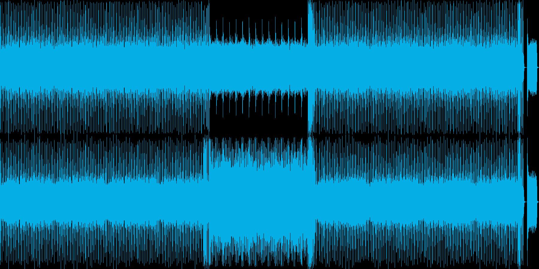 (8bit風、メロディ抜)サンバ風の再生済みの波形