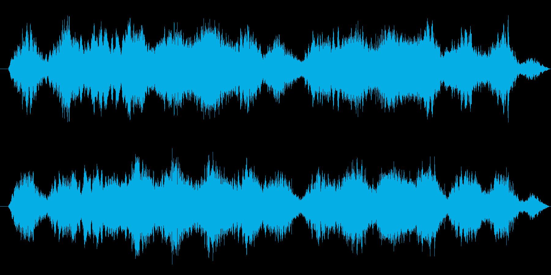 宇宙的で、浮遊感のあるアンビエントの再生済みの波形
