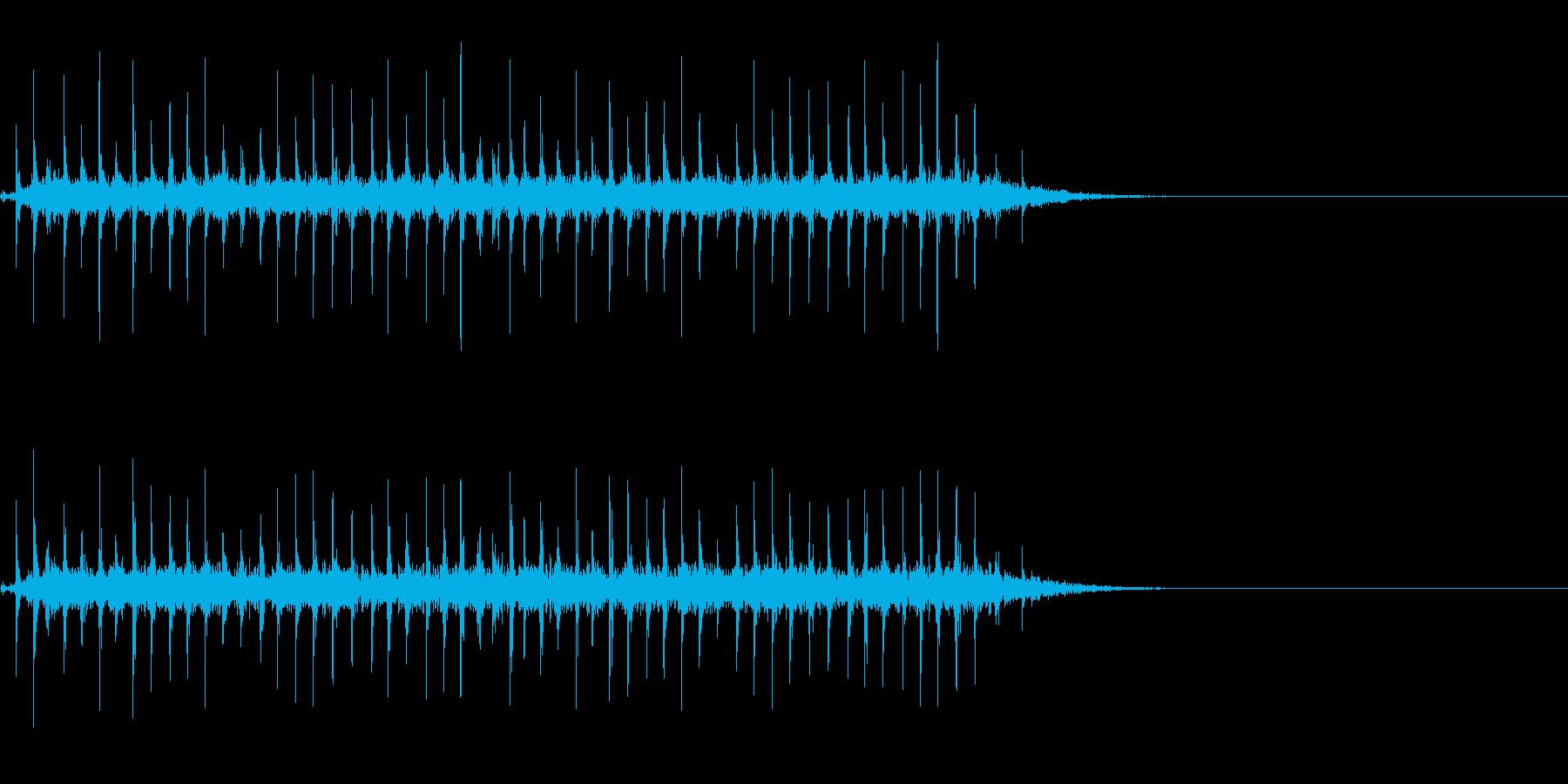 昔の時刻表のパタパタした音~低音編~の再生済みの波形