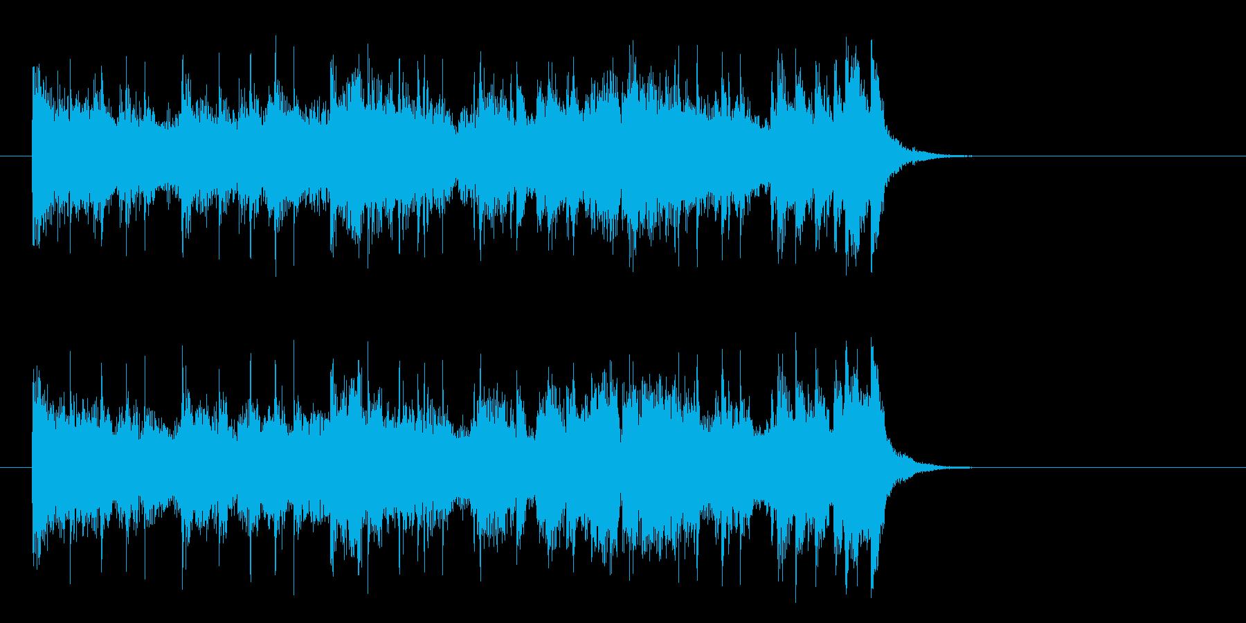 爽快なフュージョンポップ(イントロ)の再生済みの波形