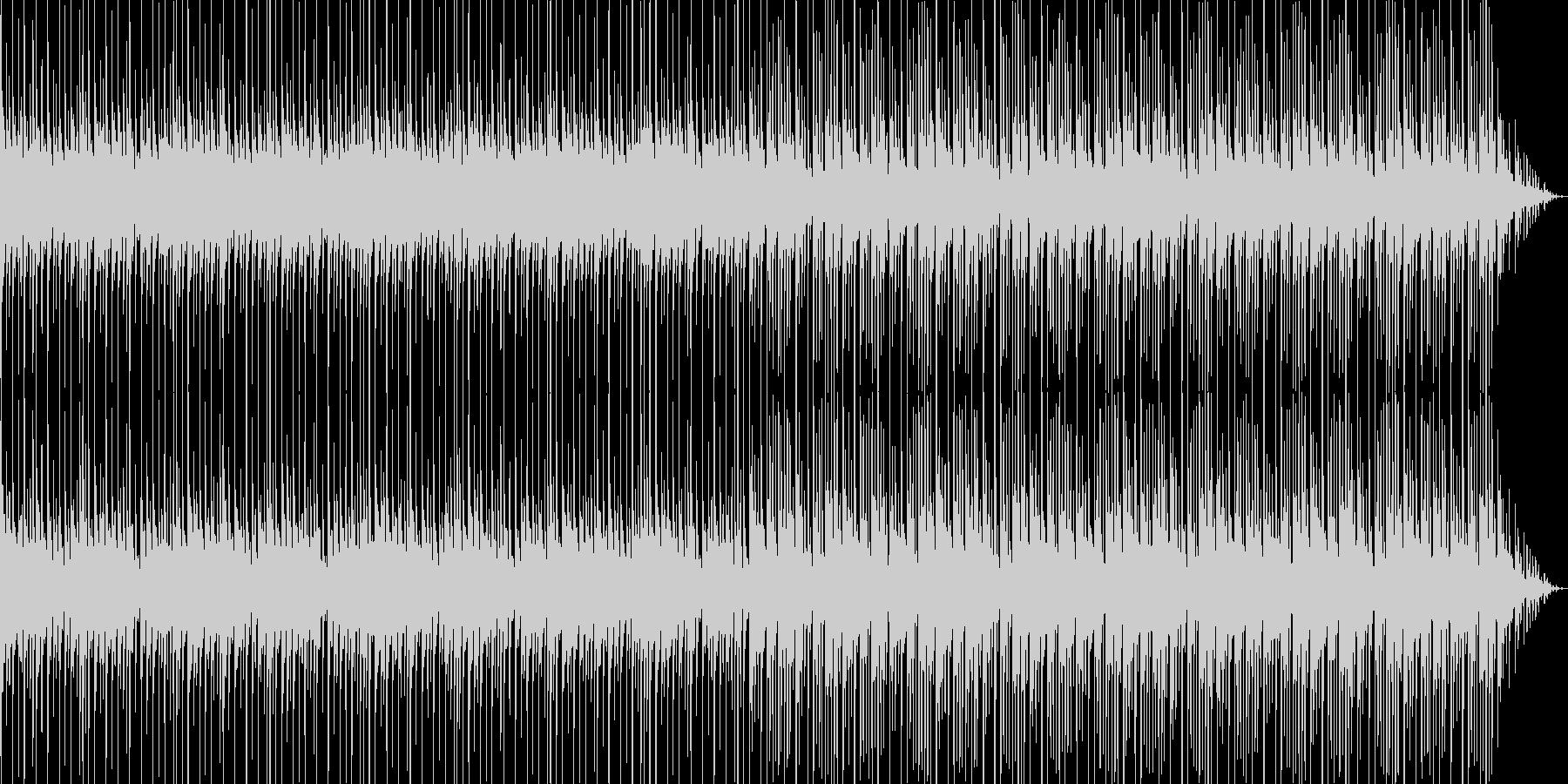 オシャレでほのぼのした雰囲気のテクノの未再生の波形
