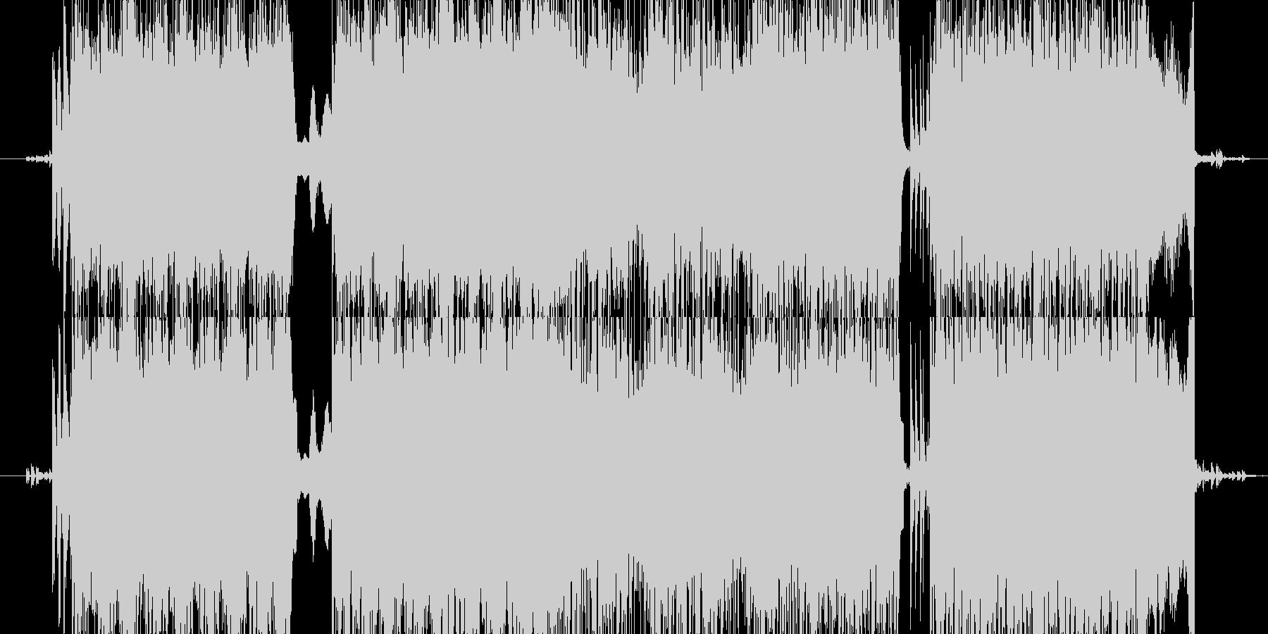 ミステリアスな激しいテクノ系の未再生の波形