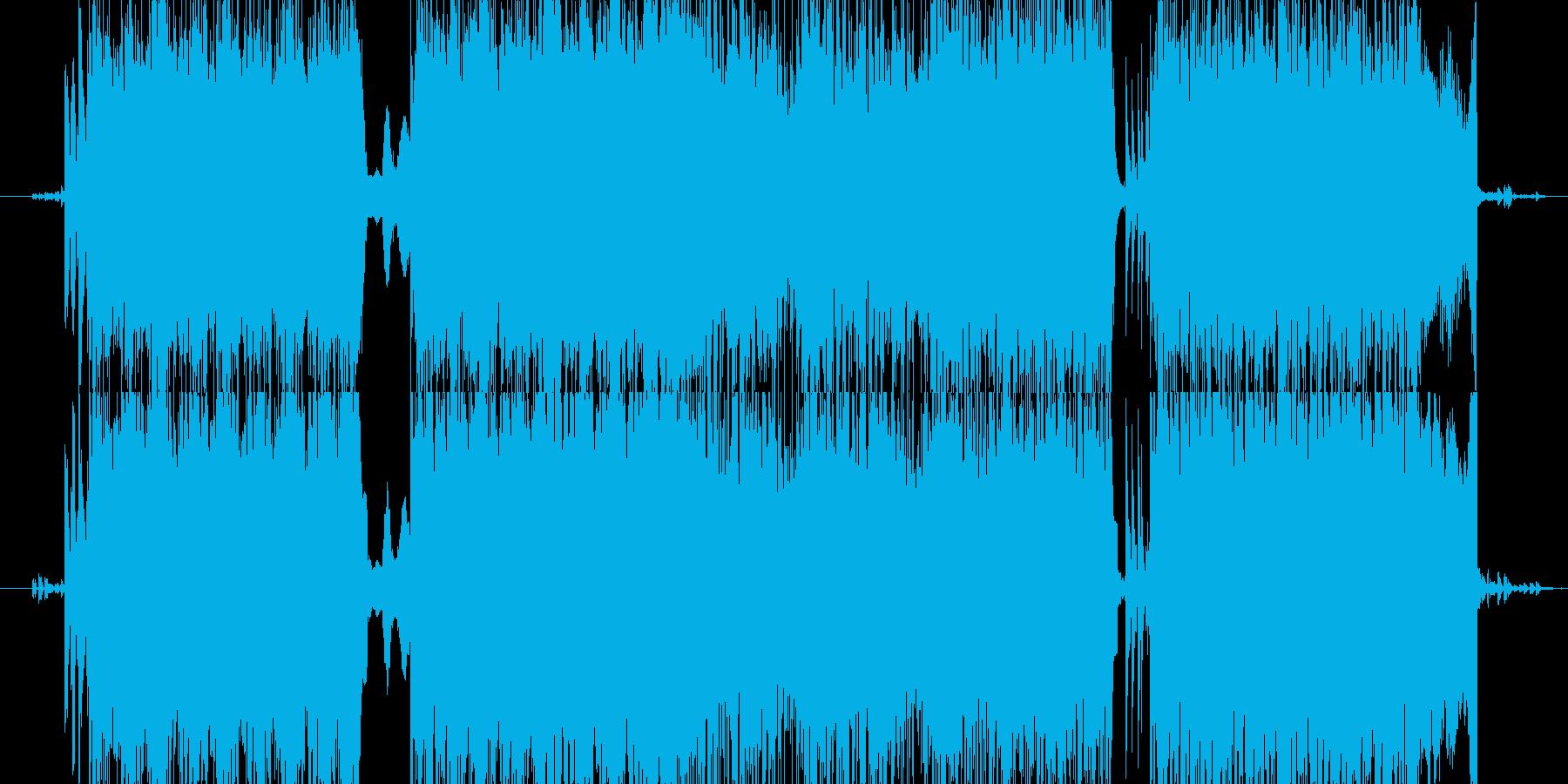 ミステリアスな激しいテクノ系の再生済みの波形