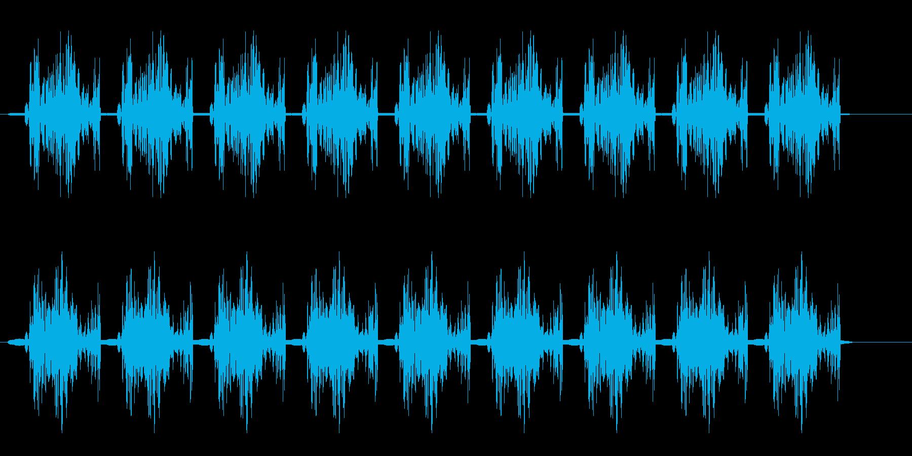 バウバウバウ(光線銃を撃つ音)の再生済みの波形