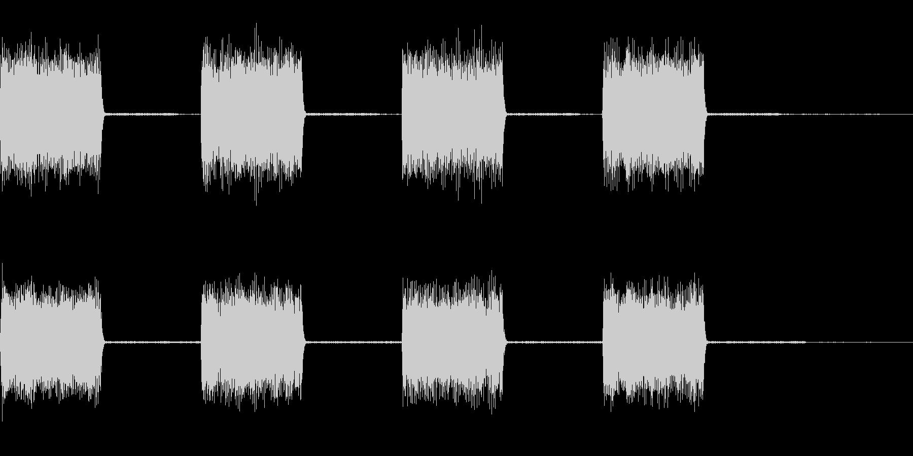 【効果音】警報音3の未再生の波形