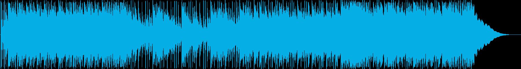 爽やかなミドルテンポのロックBGMの再生済みの波形