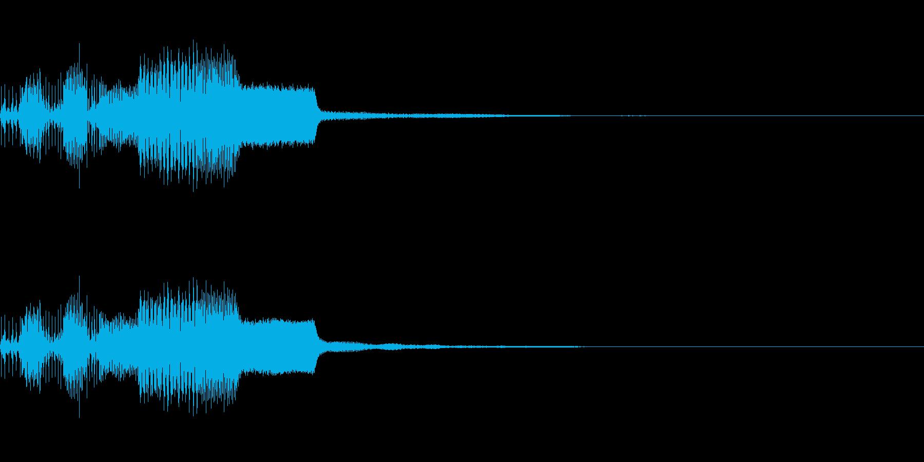 ピコンッ(ファミコン風決定音)の再生済みの波形