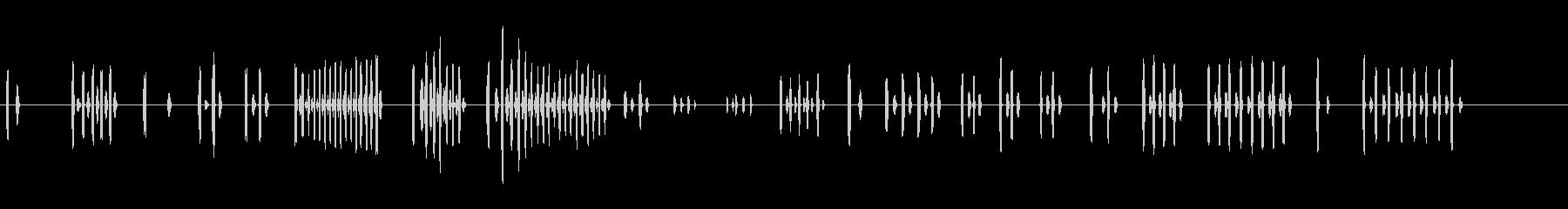 ぬいぐるみやサンダルなどのキュッキュ音の未再生の波形
