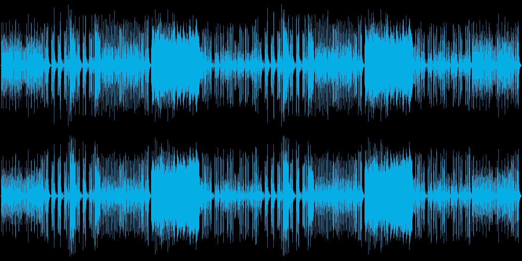 ほのぼのとポップでかわいいリコーダーの再生済みの波形