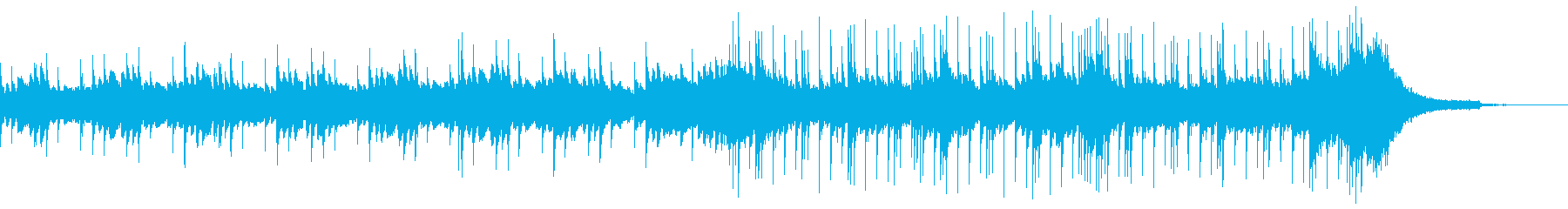 軽快で爽やかなピアノとドラム 映像用の再生済みの波形
