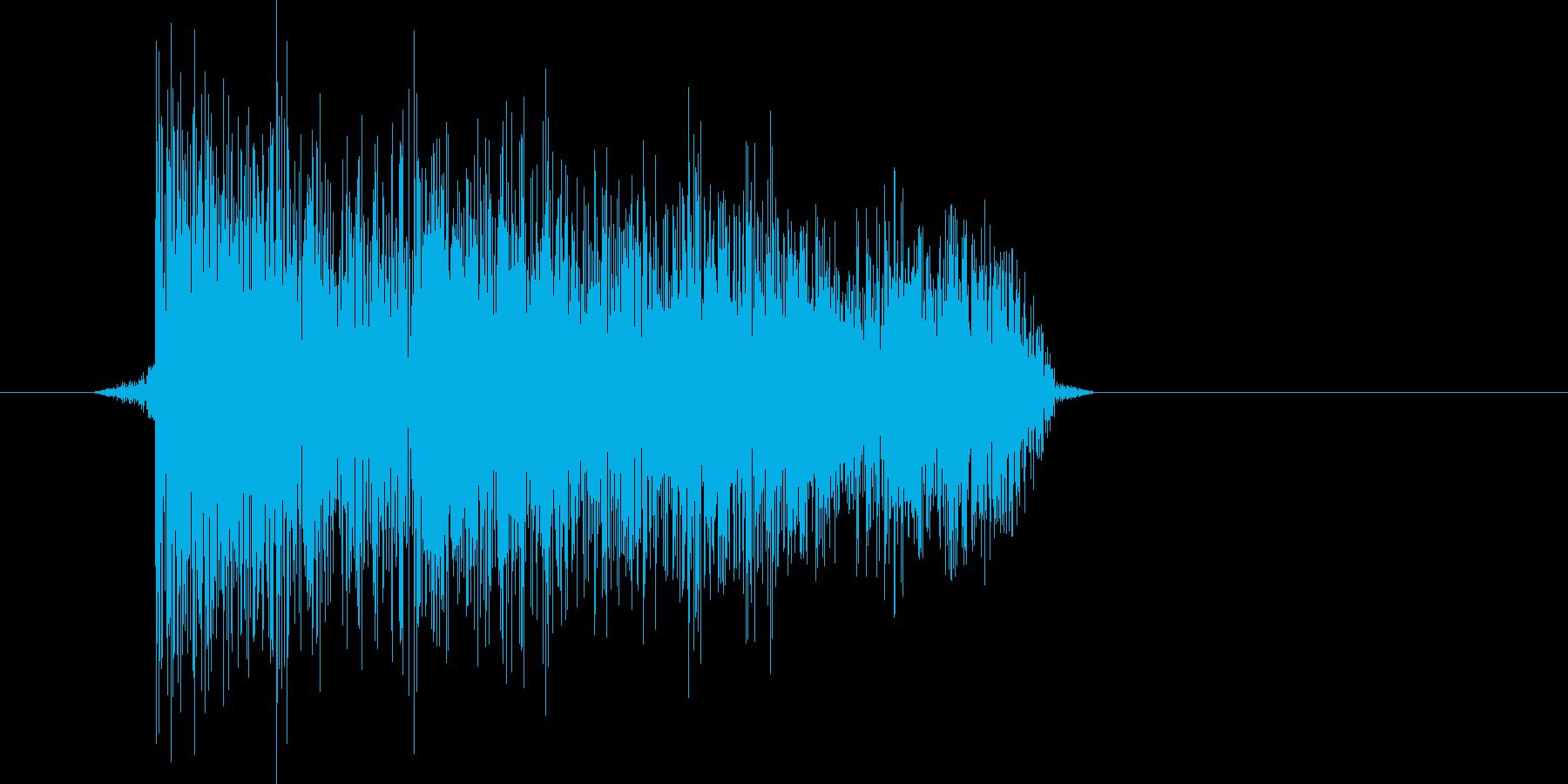 ゲーム(ファミコン風)爆発音_033の再生済みの波形
