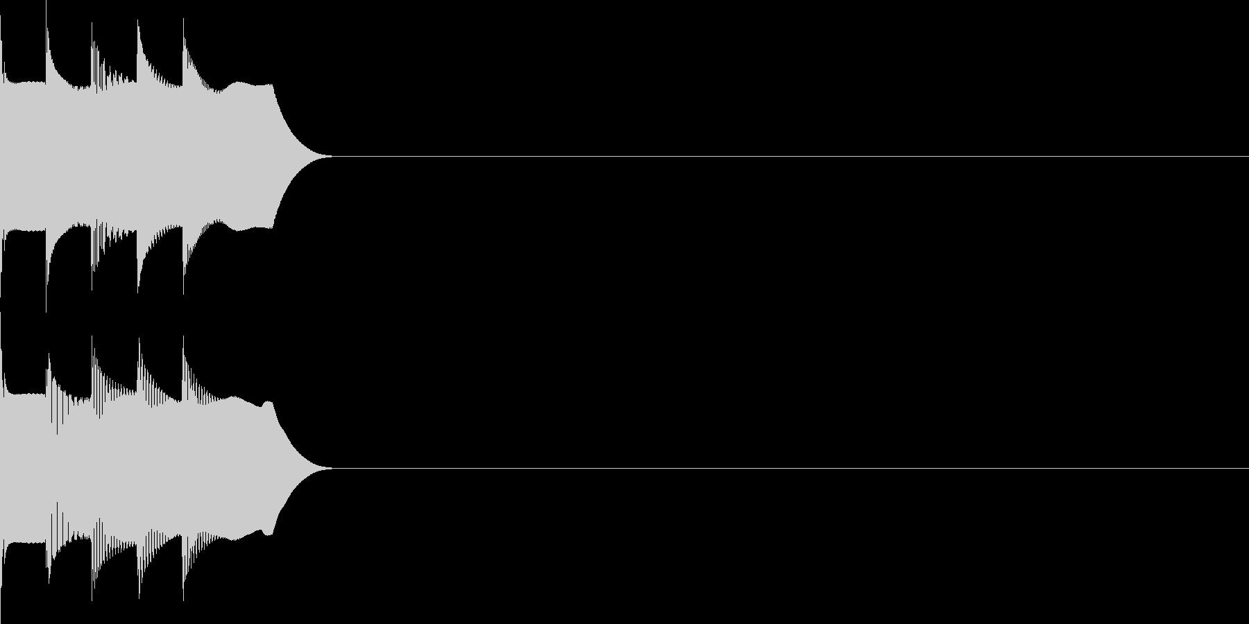 決定音23(シンセR)の未再生の波形