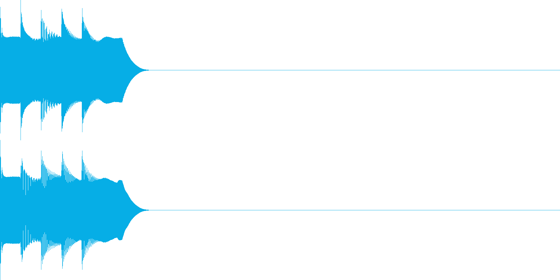 決定音23(シンセR)の再生済みの波形