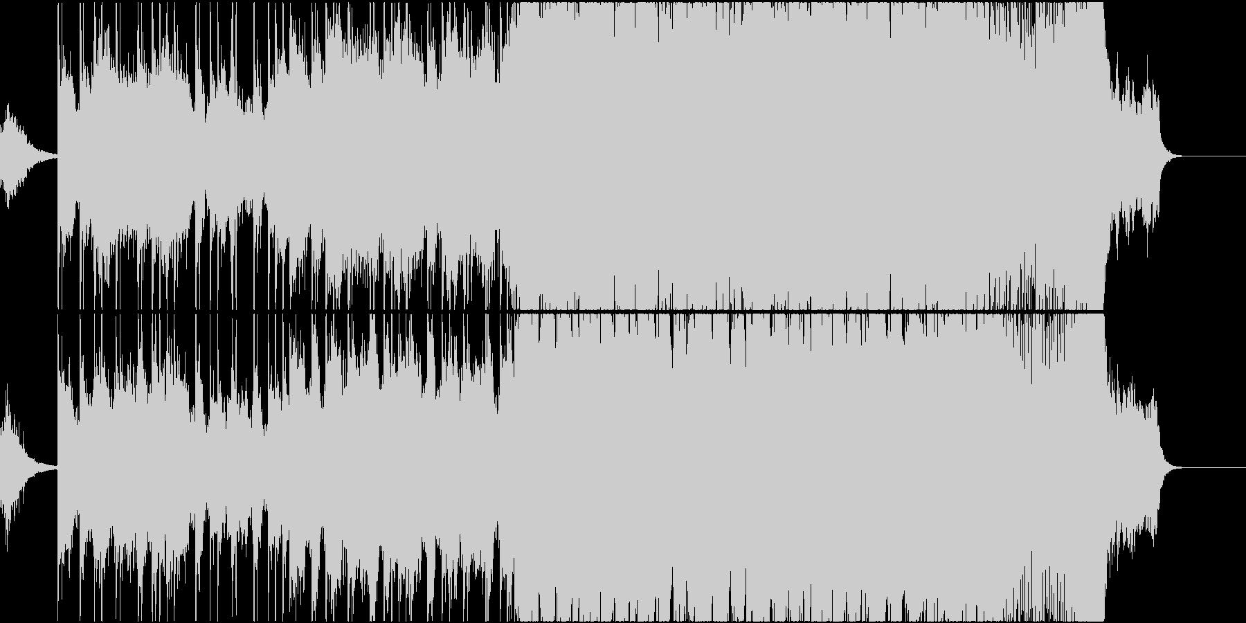 和風イメージのオーケストラのオープニングの未再生の波形