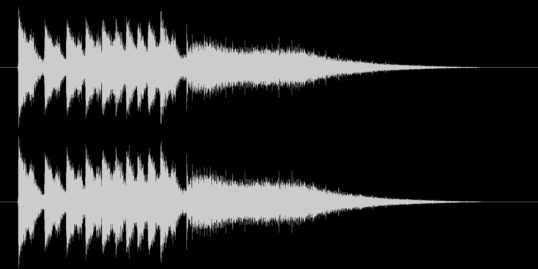 ジャンジャンジャーンというドラの音の未再生の波形