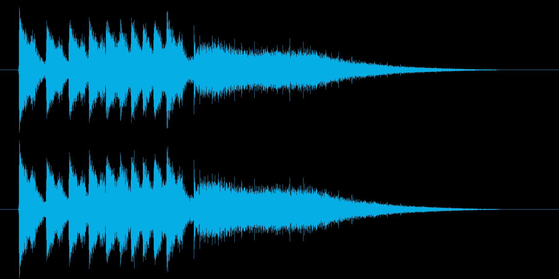 ジャンジャンジャーンというドラの音の再生済みの波形