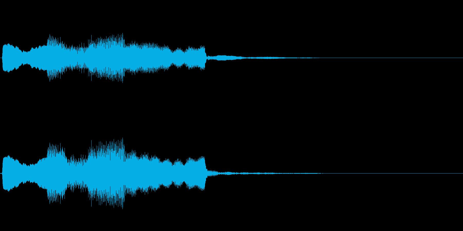 【システム音セット01-ポップアップ】の再生済みの波形