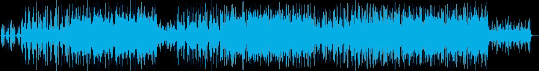おしゃれなシンセサイザーなどのサウンドの再生済みの波形