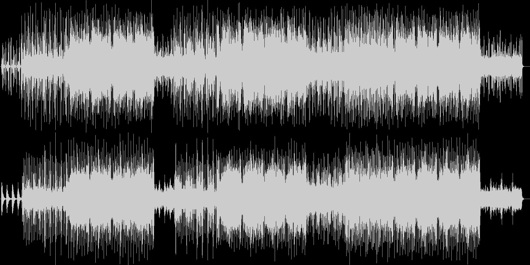おしゃれなシンセサイザーなどのサウンドの未再生の波形