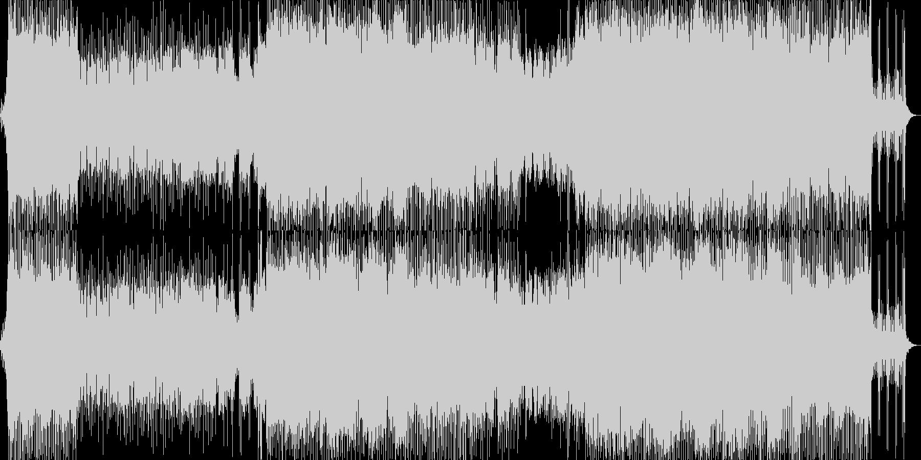 洋楽ばりに重厚でアップテンポなロックの未再生の波形